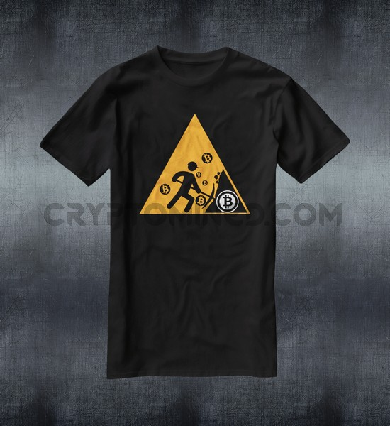 Caution Bitcoin Miner T-Shirt