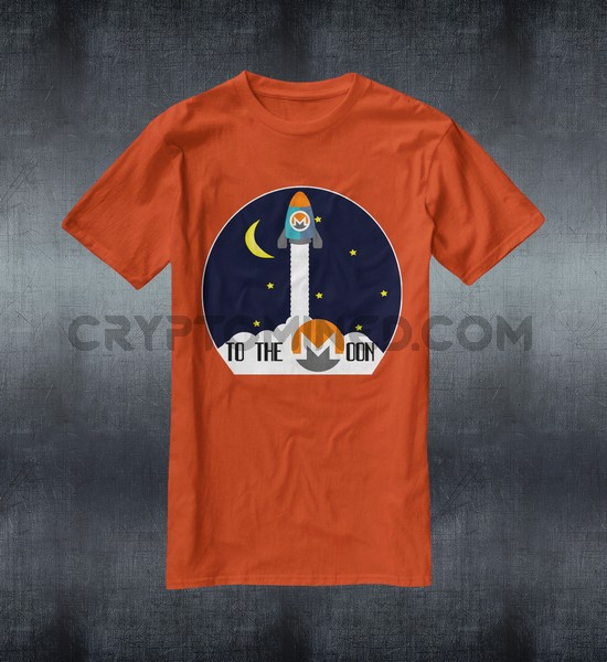 Monero Rocket To The Moon T-Shirt