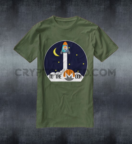 Monero Rocket To The Moon T-Shirt - Click Image to Close