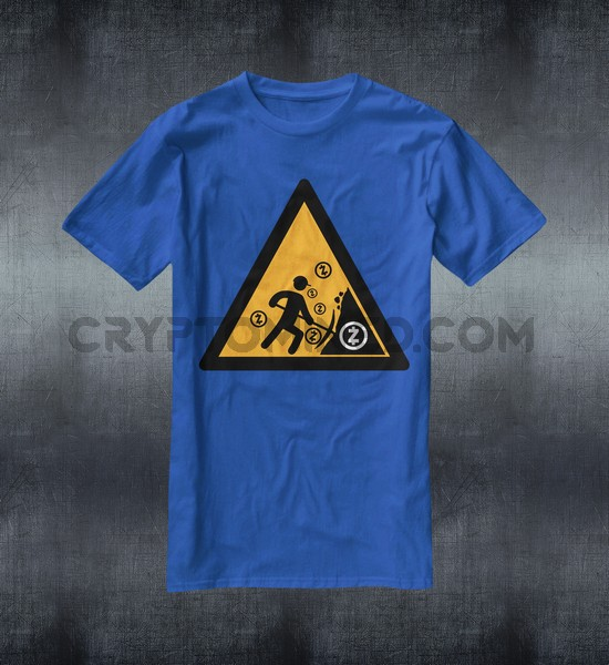Caution ZCash Miner Custom QR Code T-Shirt