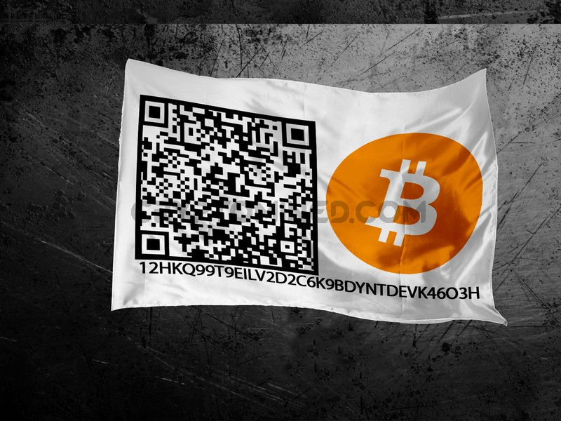 Bitcoin Custom QR Code Flag