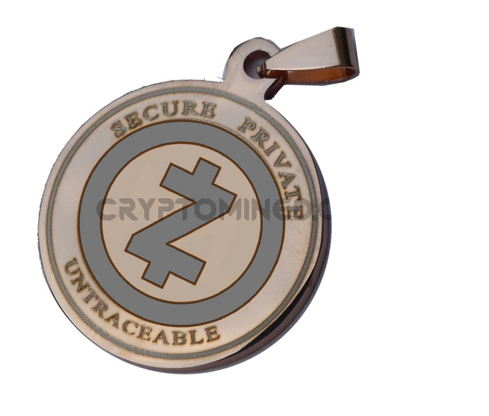 ZCash RoseGold Coin QR Pendant