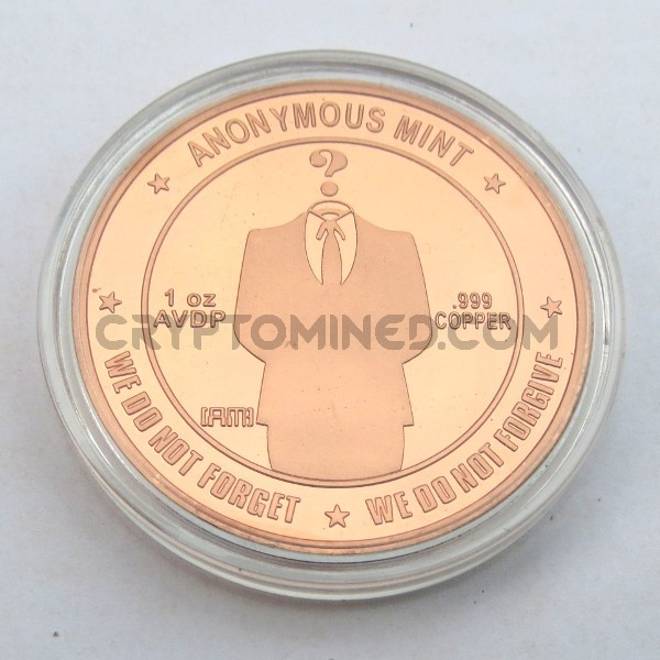 Novelty Copper Anonymous Bitcoin