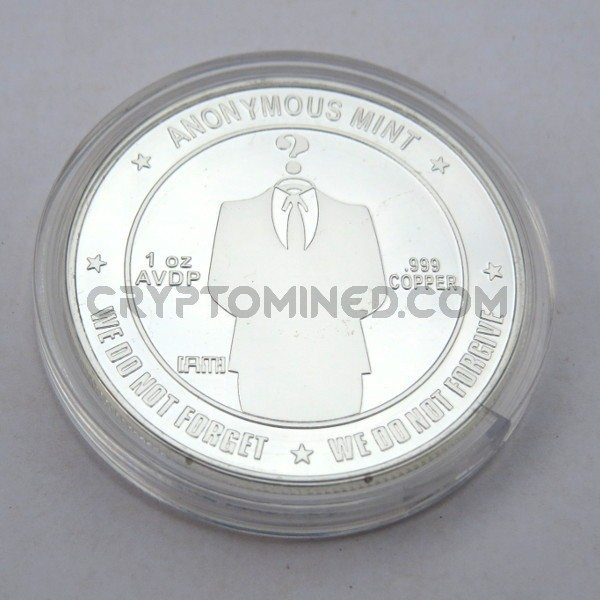 Novelty Silver Anonymous Bitcoin