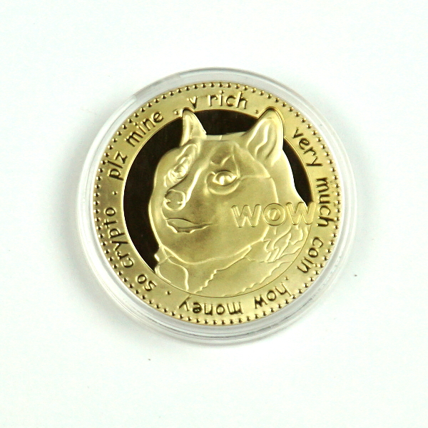 Doge WOW To The Moon Gold Novelty Coin