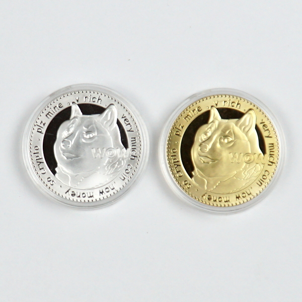 Doge WOW To The Moon Novelty Coin Set of 2