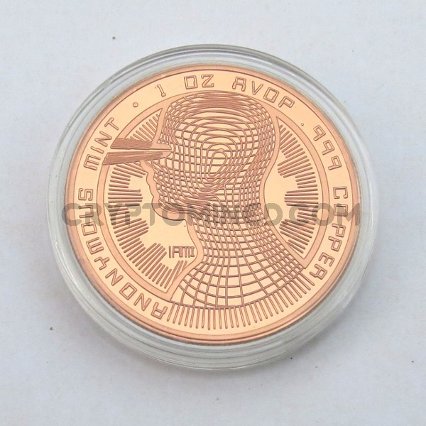 Novelty Copper IAMI Bitcoin