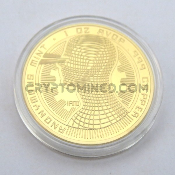 Novelty Gold IAMI Bitcoin Physical Copper Coin