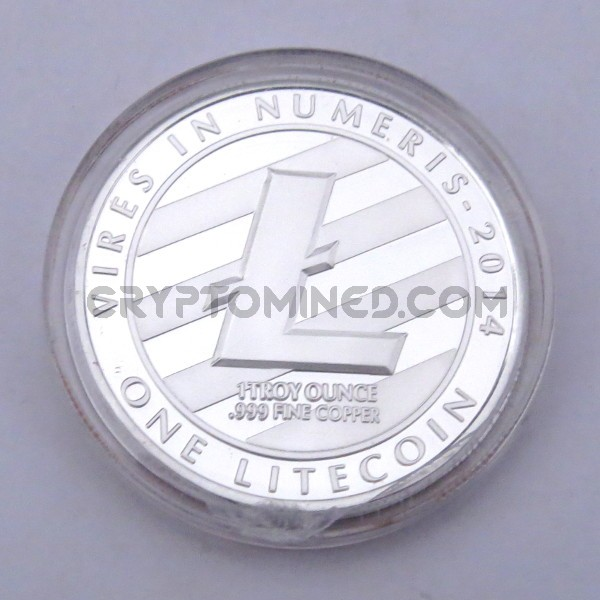 Novelty Silver Litecoin Physical Copper Coin