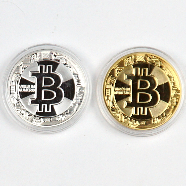 Novelty Bitcoin Vires In Numeris Physical Coin Set of 2