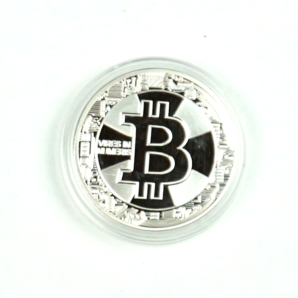 Novelty Silver Bitcoin Vires In Numeris Physical Coin