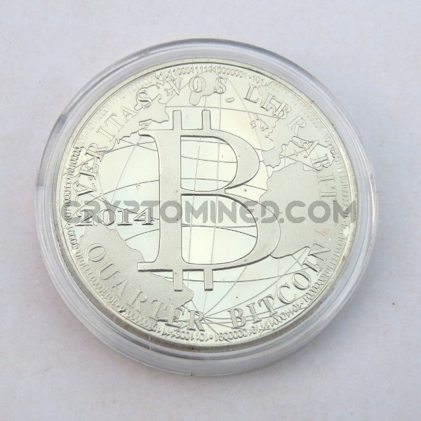 Novelty Quarter Silver Bitcoin