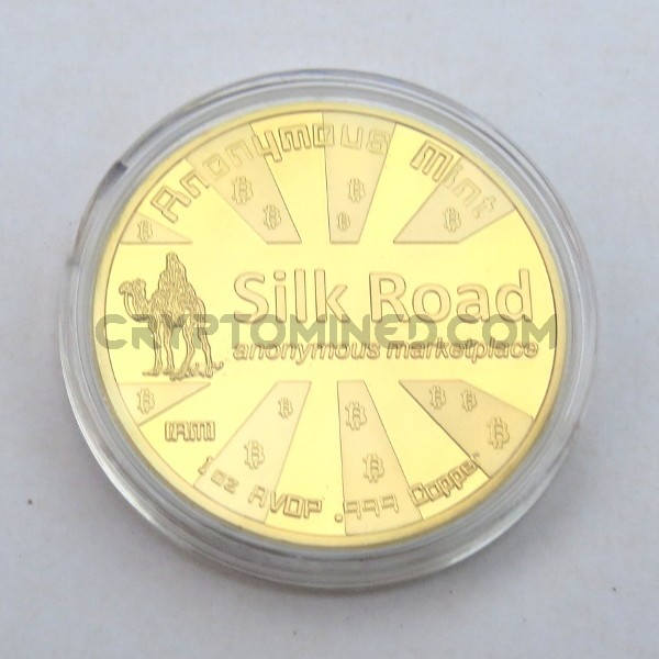 Novelty Gold Silk Road Bitcoin