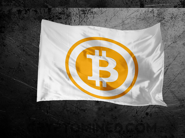 Bitcoin BTC Flag