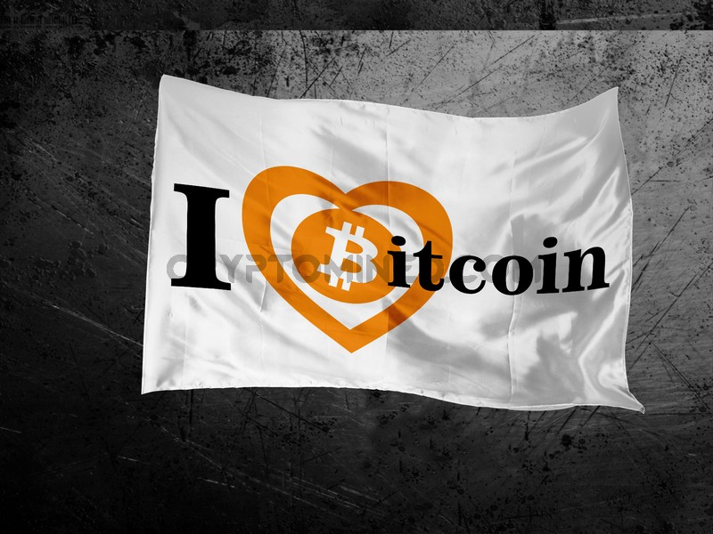 I Love Bitcoin Flag