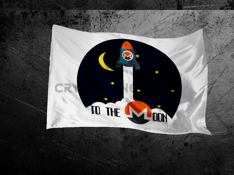Monero Rocket to the Moon Flag