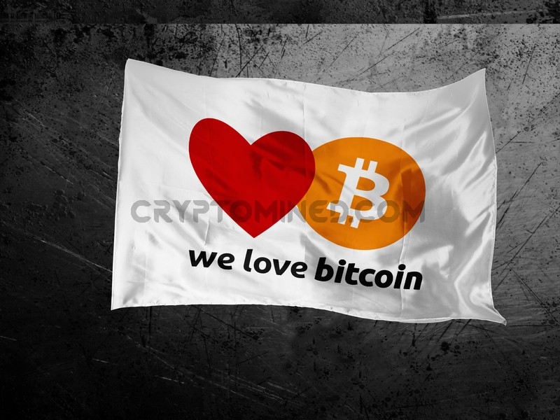 We Love Bitcoin Flag
