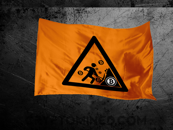 Caution Bitcoin Miner Flag