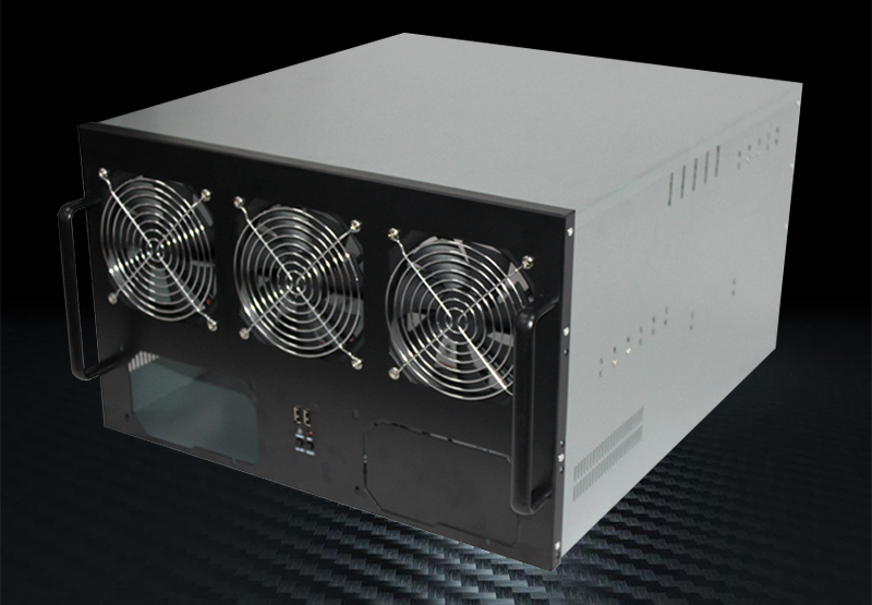 Crypto Case 6 to 8GPU Mining Rig 6U Server Case