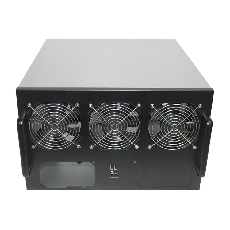 Crypto Case 6 to 8GPU Mining Rig 6U Server Case - Click Image to Close