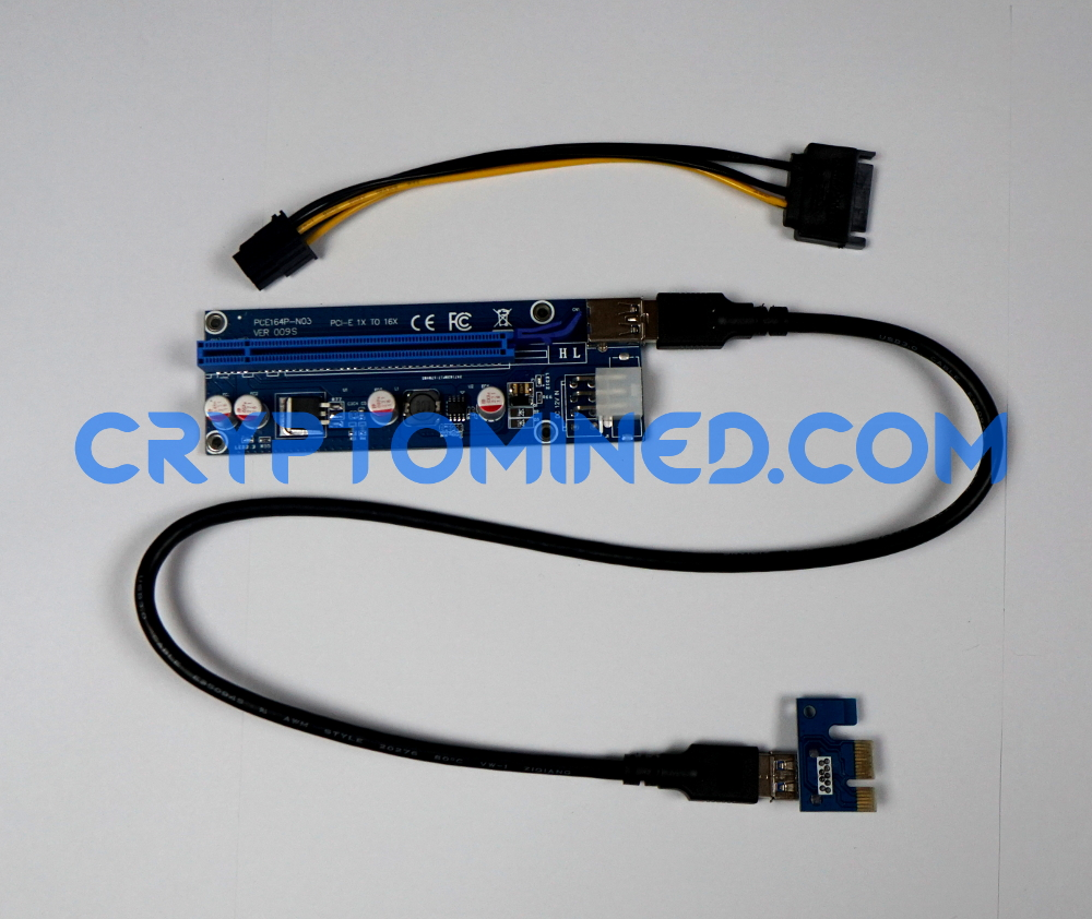 PCI-E 1X-16X USB3.0 Riser Version.009 6Pin