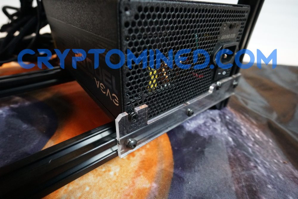 BlackBlizzard Stackable Mining Rig Frame 6-GPU Aluminum