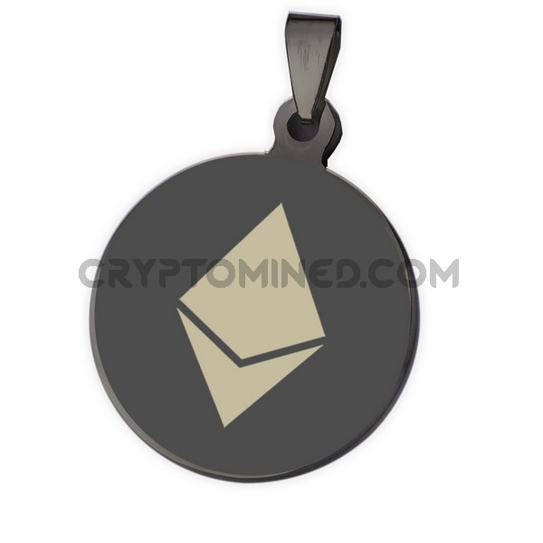Ethereum Black QR Wallet Pendant for Necklace