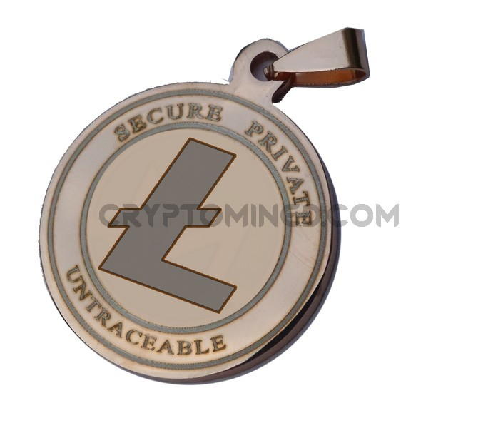 Litecoin RoseGold CoinQR Pendant
