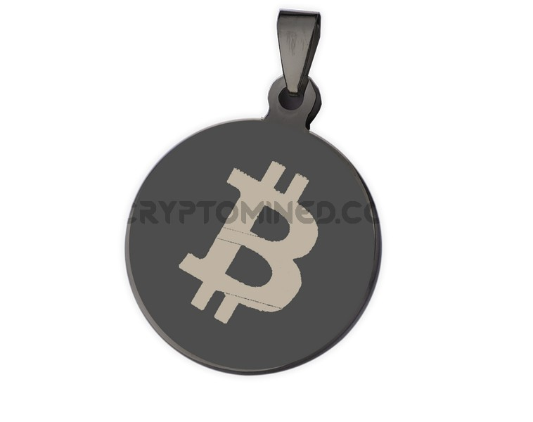 Bitcoin Black QR Wallet Pendant