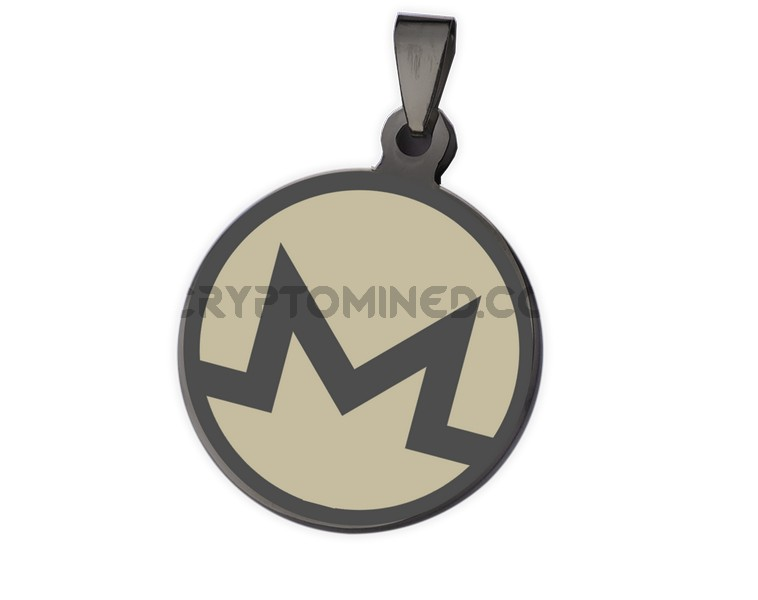Monero Black QR Wallet Pendant
