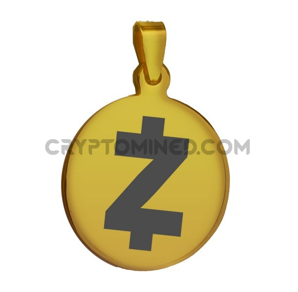 ZCash Gold QR Wallet Pendant