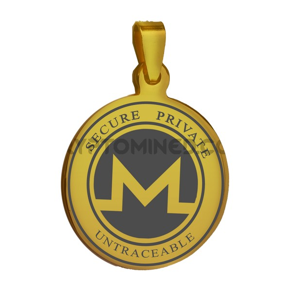 Monero Gold Coin QR Pendant
